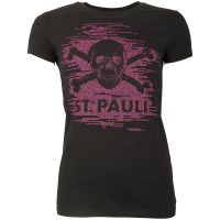 FC St. Pauli - Damen T-Shirt TK Freude Schwarz-Lila