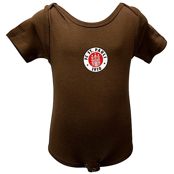 FC St. Pauli - Baby Body Logo - braun