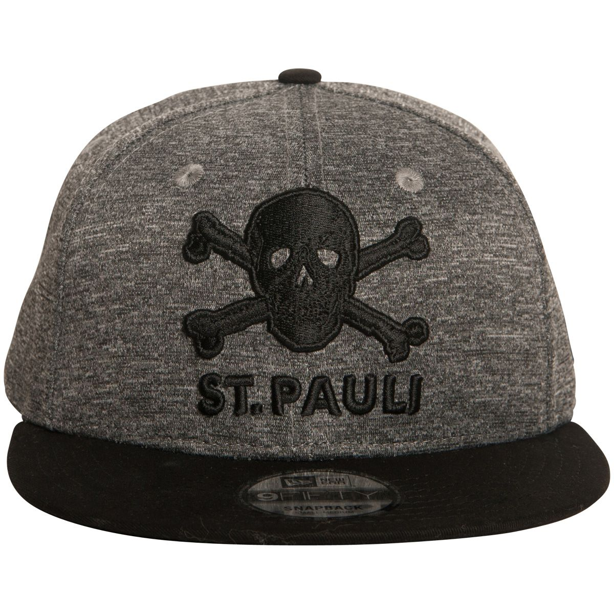 FC St. Pauli - Kappe 9fifty Snapback Totenkopf - grau-schwarz