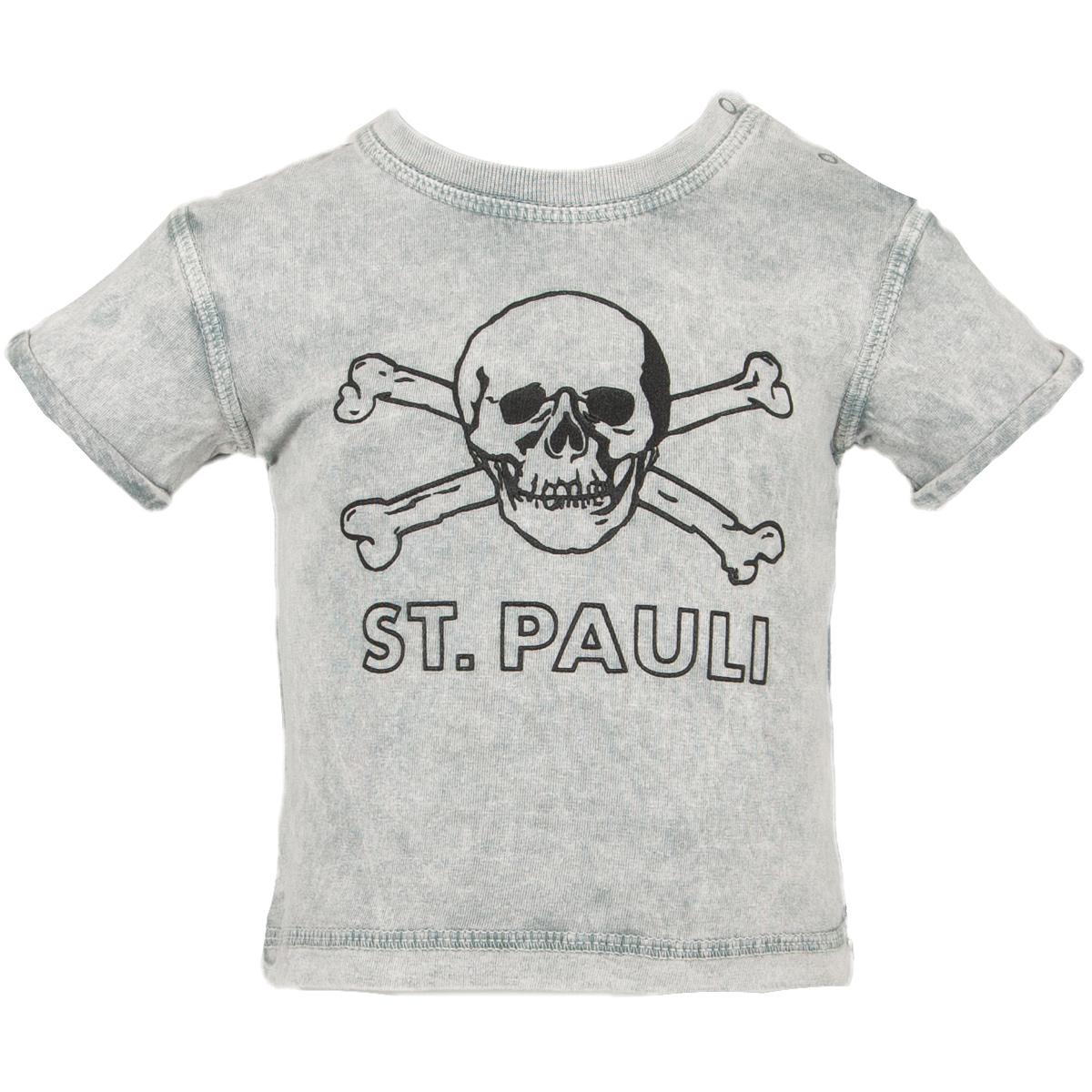 FC St. Pauli Baby T-Shirt Anthra Totenkopf - grau