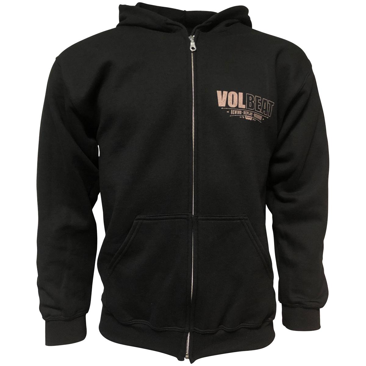 Volbeat - Kapuzenjacke Rewind Replay Rebound Cover - schwarz