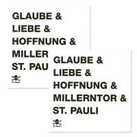 FC St. Pauli - Fliesenaufkleber Glaube Liebe Hoffnung2er Set