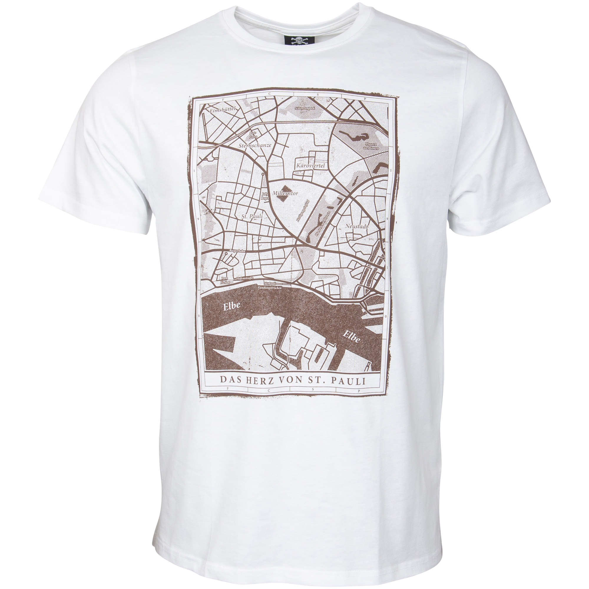 FC St. Pauli - T-Shirt Viertel - weiß