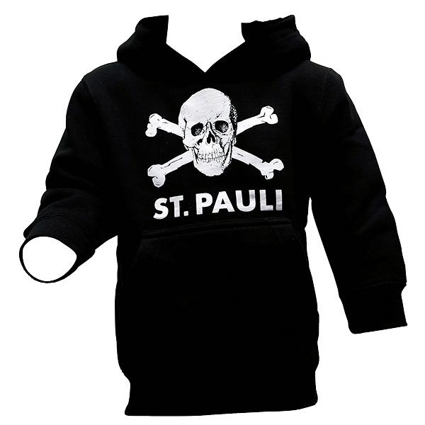 FC St. Pauli - Kinder Kapu Totenkopf groß - schwarz