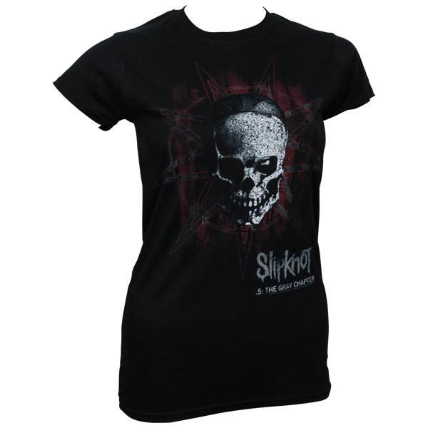 Slipknot - Girlie T-Shirt Star Skull - schwarz