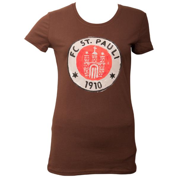 FC St. Pauli - Frauen T-Shirt Logo Paint - braun