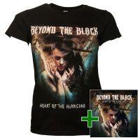 Beyond The Black - Set CD + Damen Tour Shirt Heart Of The Hurricane