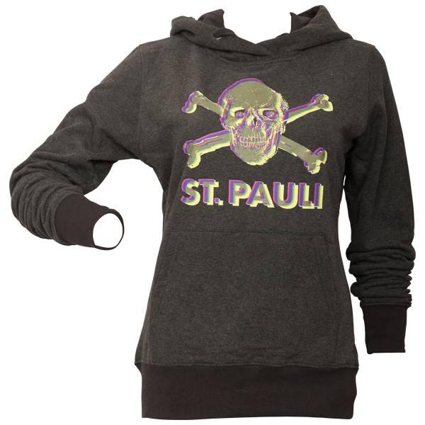 FC St. Pauli - Frauen Kapuzenpullover 3D - grau