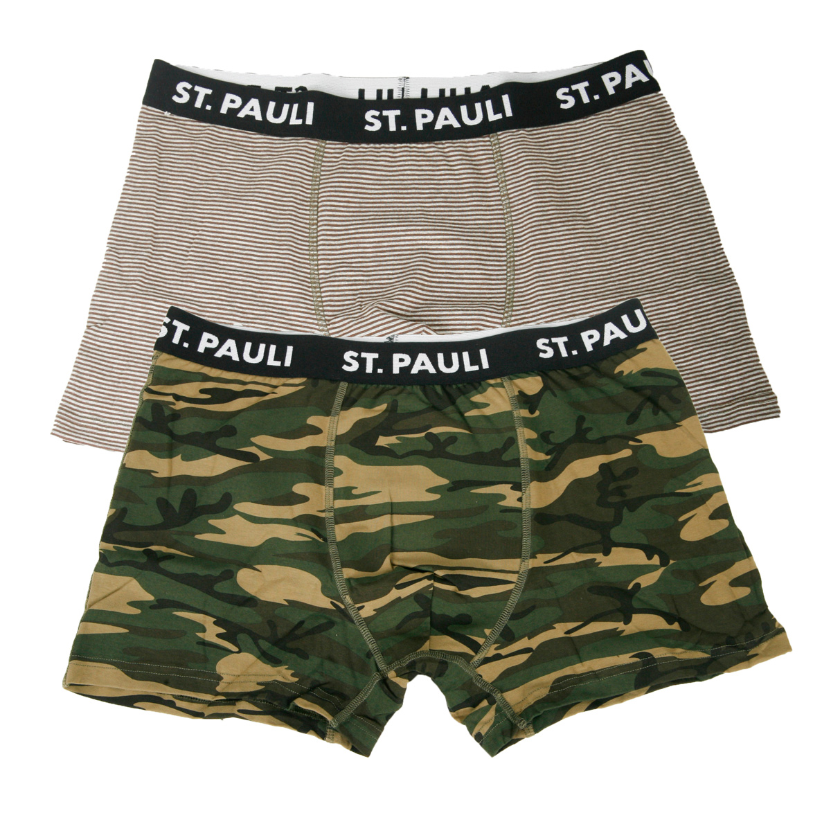 FC St. Pauli - Herren Boxershorts 2er Set - grau-camouflage