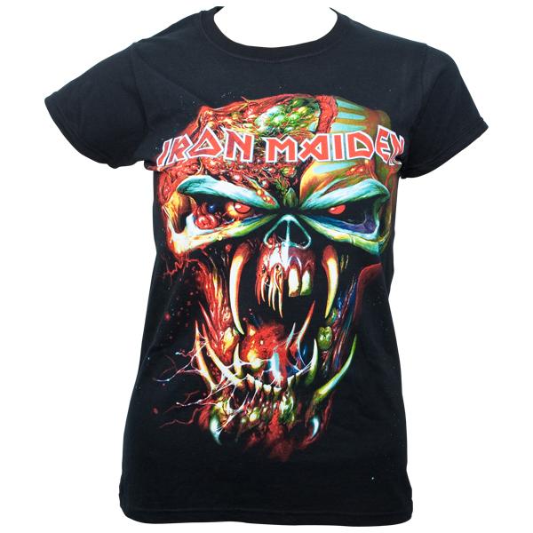 Iron Maiden - Girlie T-Shirt Final Frontier Eddie - schwarz
