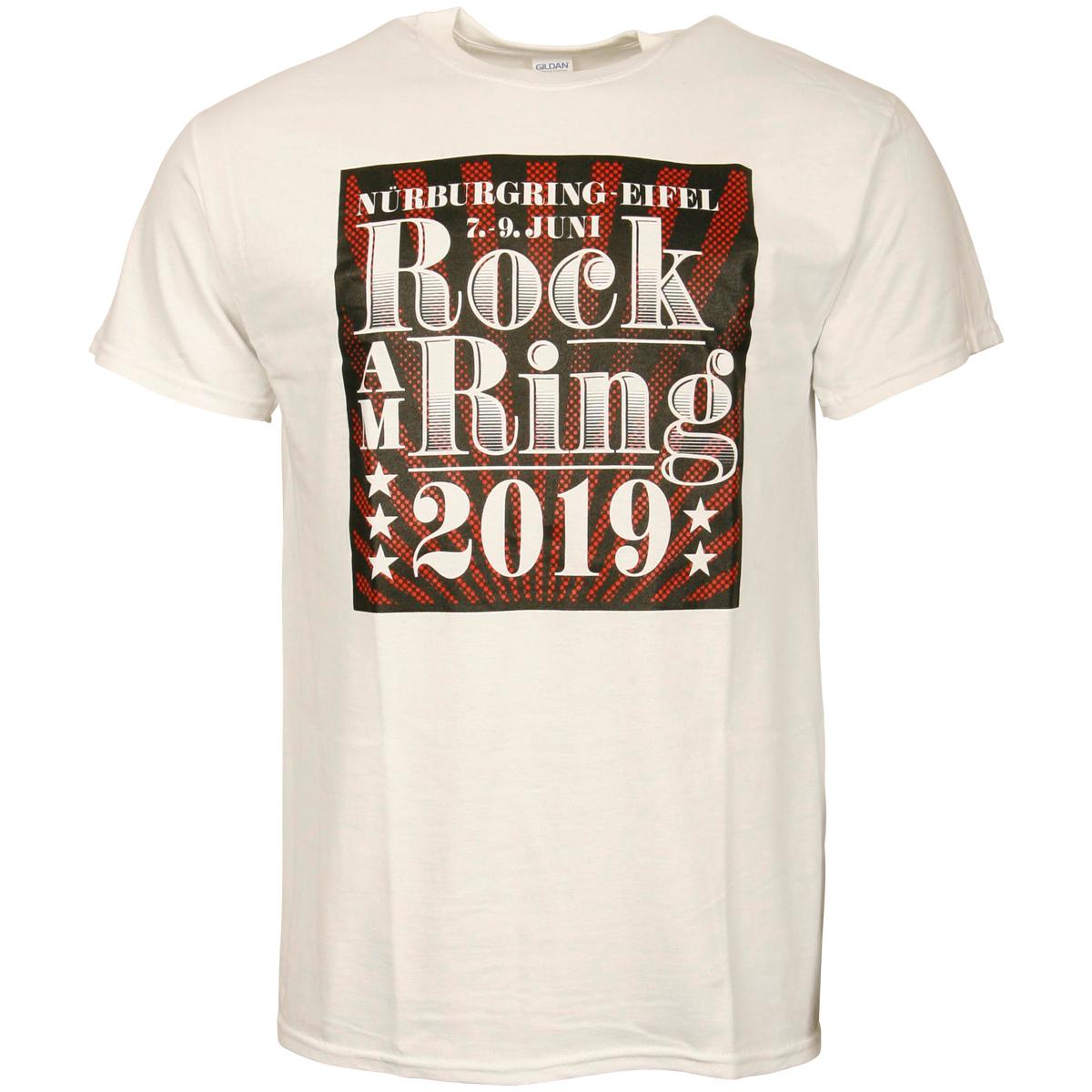 Rock am Ring 2019 -T-Shirt Classic Typo White - weiß