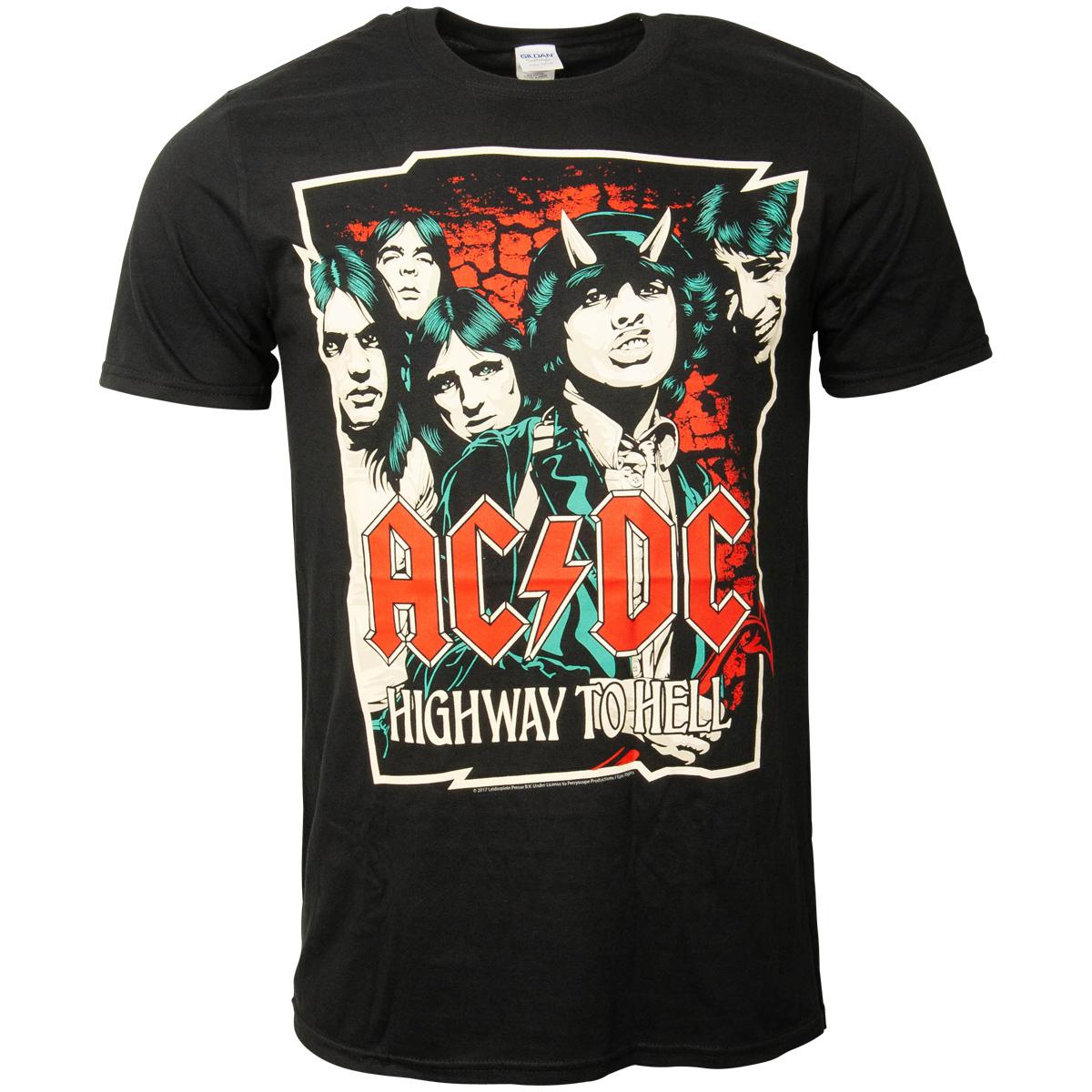 AC/DC - T-Shirt Cartoon - schwarz