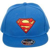 Superman - Snapback Cap Logo - blau