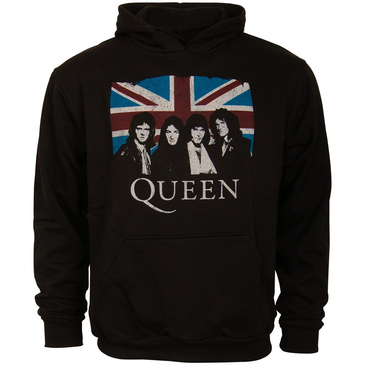 Queen - Kapuzenpullover Vintage Union Jack - schwarz