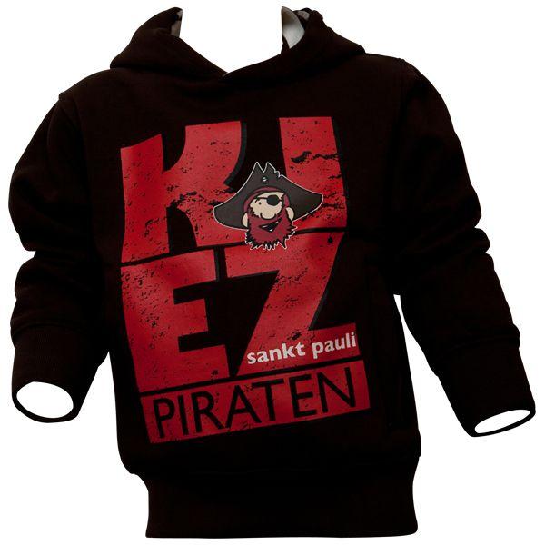 FC St. Pauli - Kinder Kapuzenpullover Kiez - braun