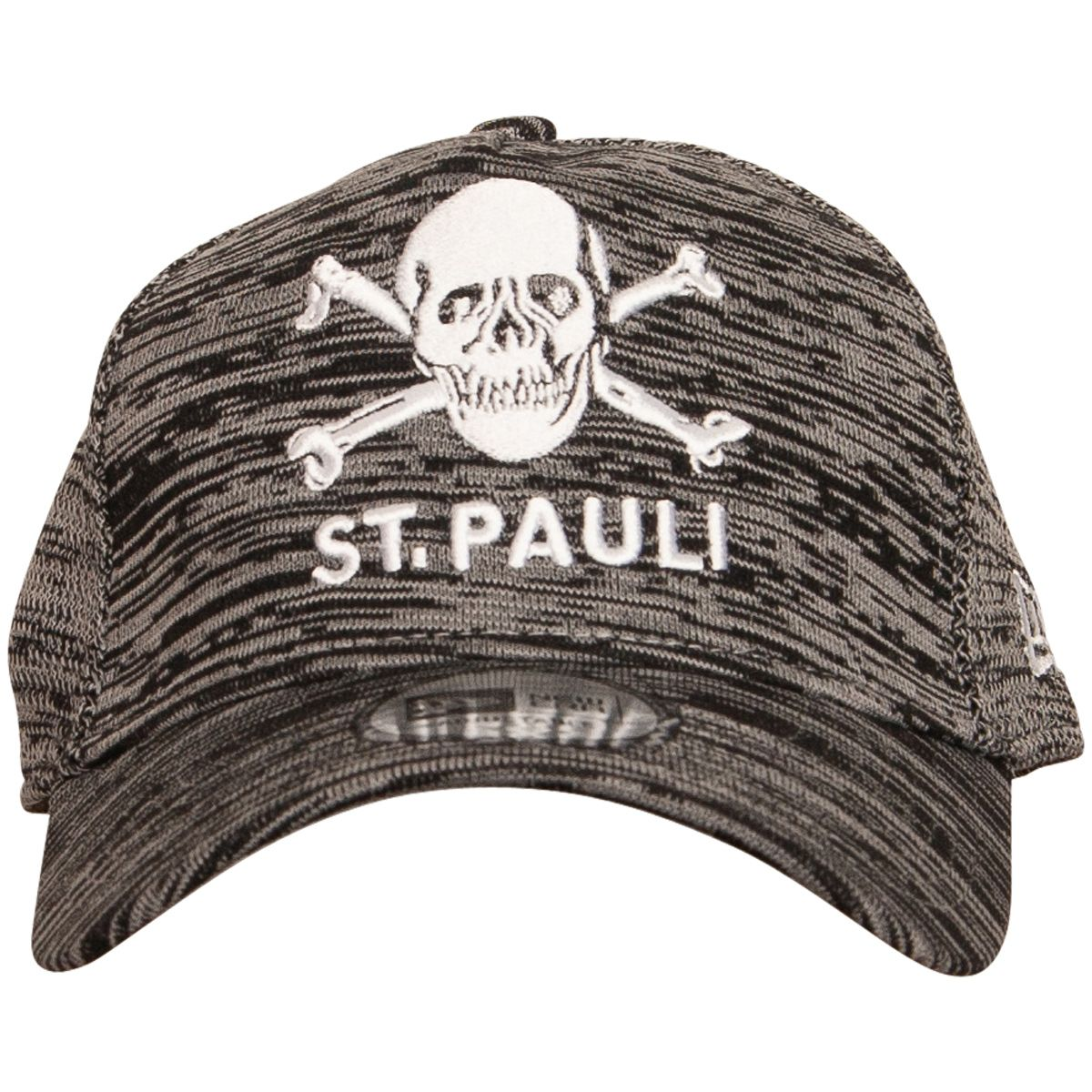 FC St. Pauli - Grey NewEra Cap with Skull  5caf1ef084a3