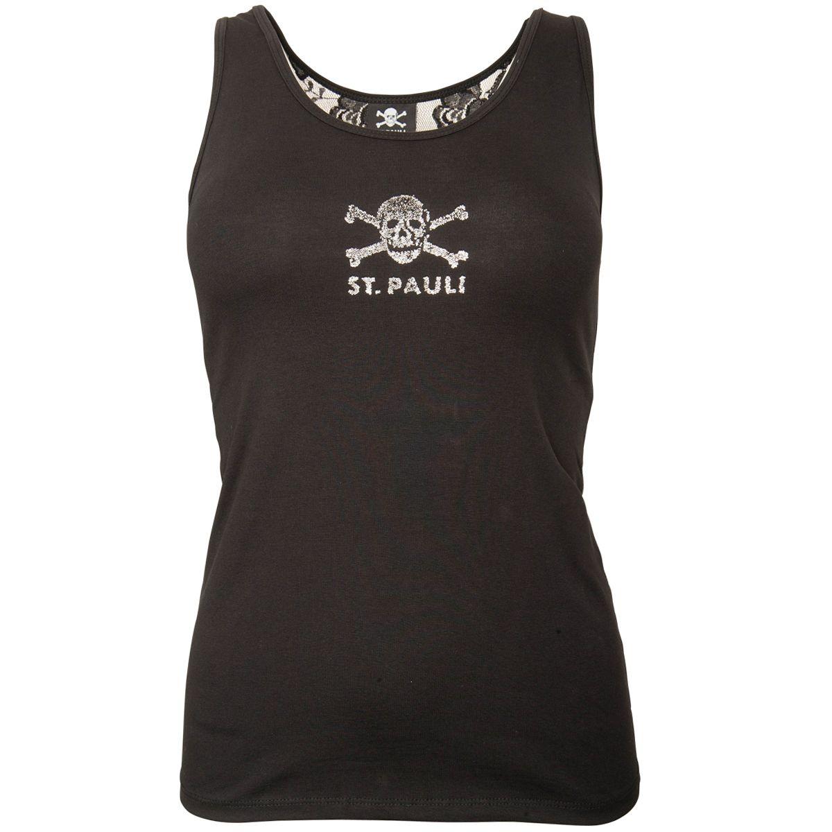 FC St. Pauli - Damen Tanktop Punk & Lace - schwarz