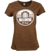 FC St. Pauli - Damen T-Shirt Millerntor - braun
