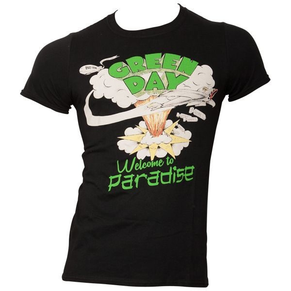Green Day - T-Shirt Welcome To Paradise - schwarz