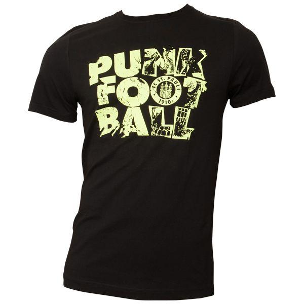 FC St. Pauli - T-Shirt Punk Football - schwarz