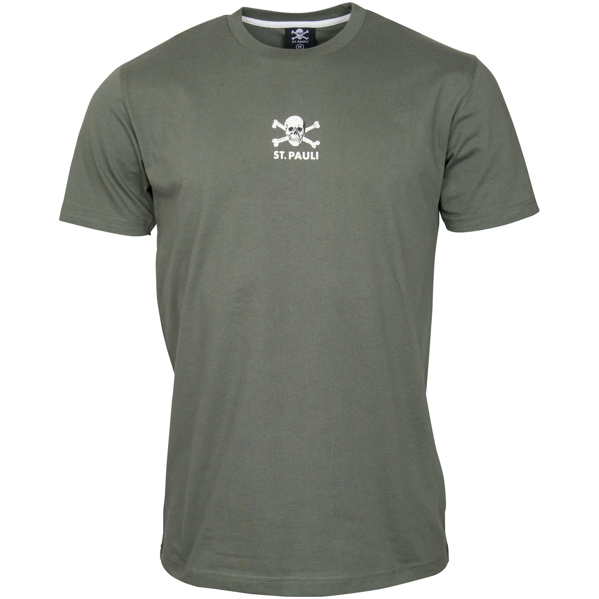 FC St. Pauli - T-Shirt Autumn Green - olivgrün