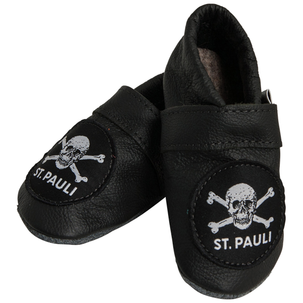 FC St. Pauli Babyschuhe Totenkopf schwarz