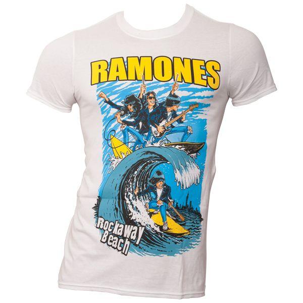 Ramones - T-Shirt Rockaway Beach - weiß