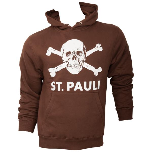 FC St. Pauli - Kapuzenpullover Totenkopf - braun