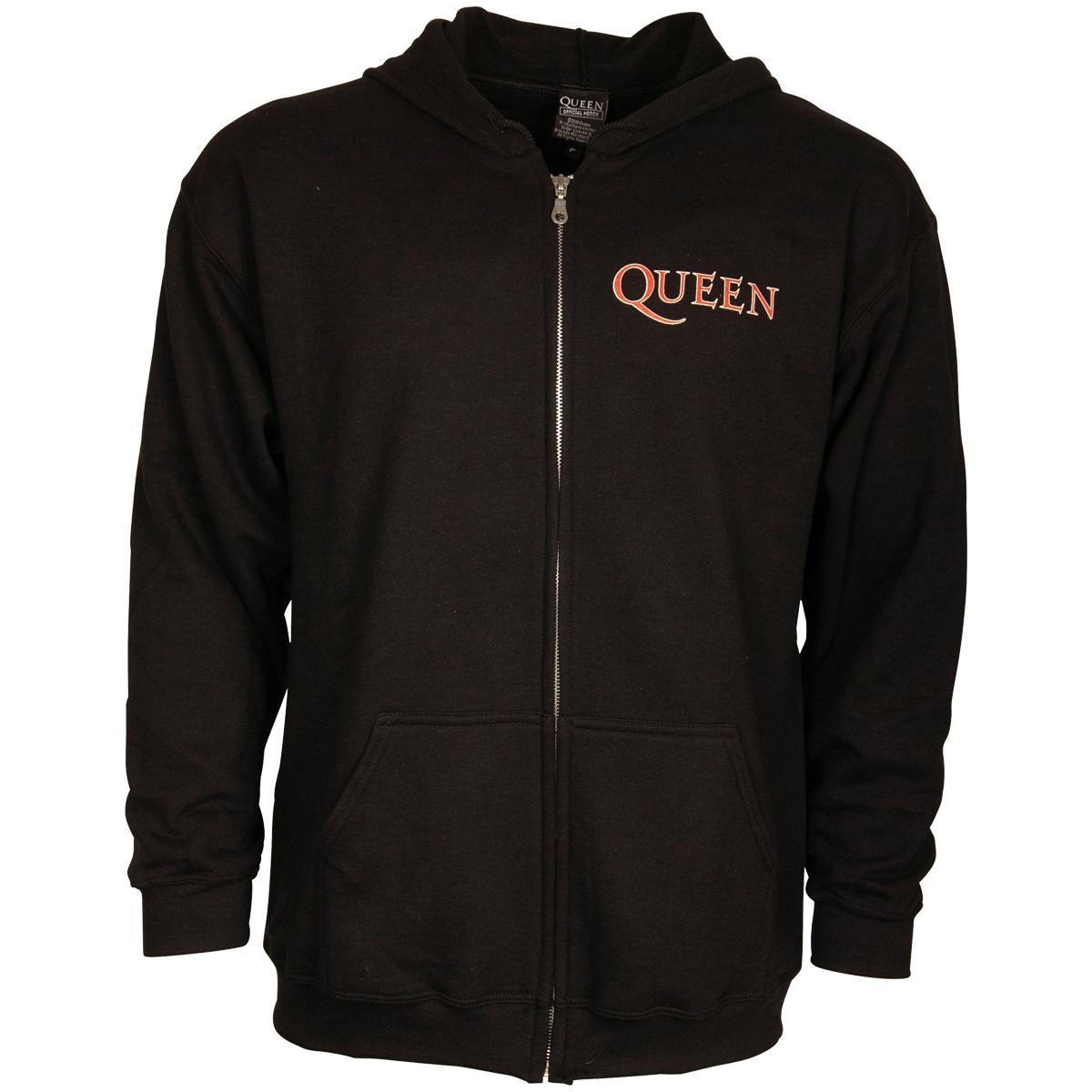 Queen - Kapuzenjacke Classic Crest - schwarz