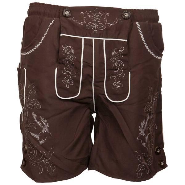 tuXedoo - Badehose Lederhosen-Shorts - braun