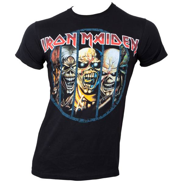 Iron Maiden - T-Shirt Eddie Evolution - schwarz