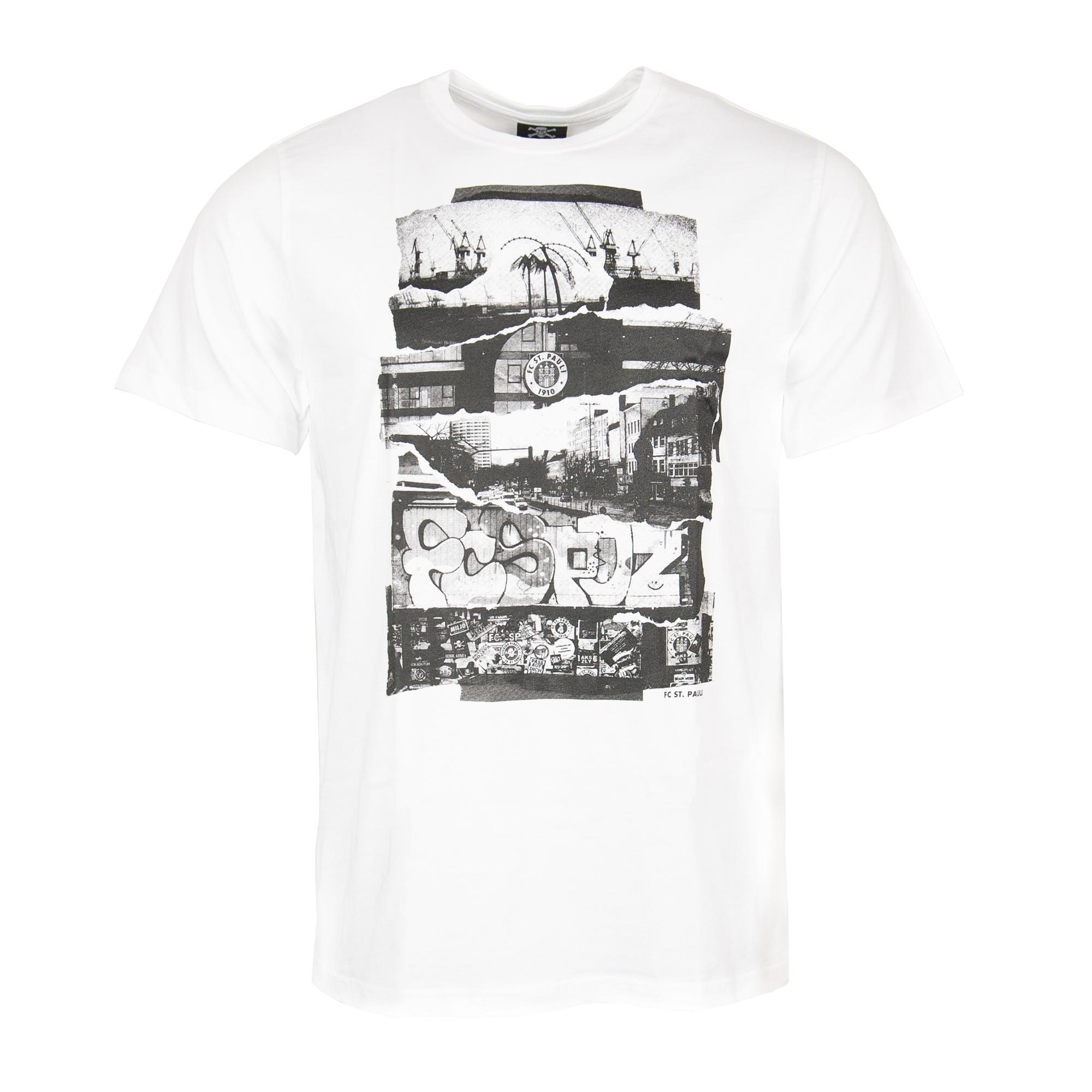 FC St. Pauli - T-Shirt Collage - weiß
