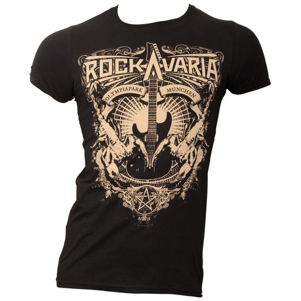 Offizielles Rockavaria T-Shirt 2016 mit Iron Maiden - schwarz