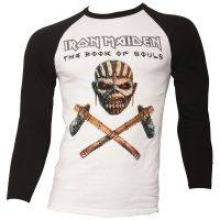 Iron Maiden - Baseball Shirt Axe Colour - schwarz/weiß
