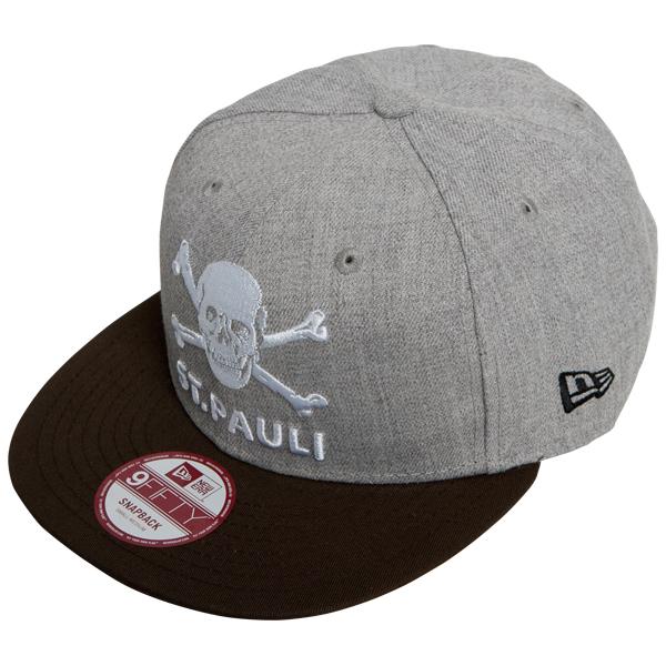 FC St. Pauli - Cap Totenkopf Snapback 9fifty - grau/braun