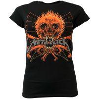 Metallica - Damen T-Shirt Rebel Black - schwarz