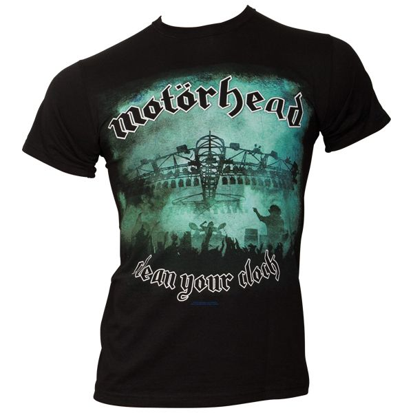 Motörhead - T-Shirt Clean Your Clock Green - schwarz