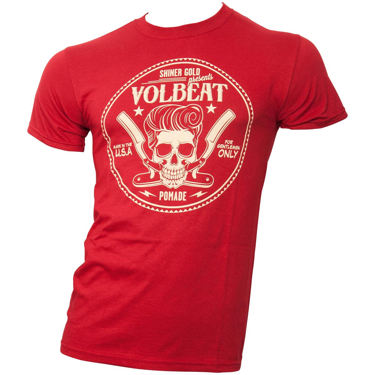 Volbeat - T-Shirt Circle Skull - dunkelrot