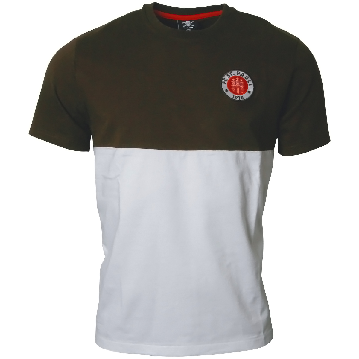 FC St. Pauli - T-Shirt Logo 2019 - braun-weiß