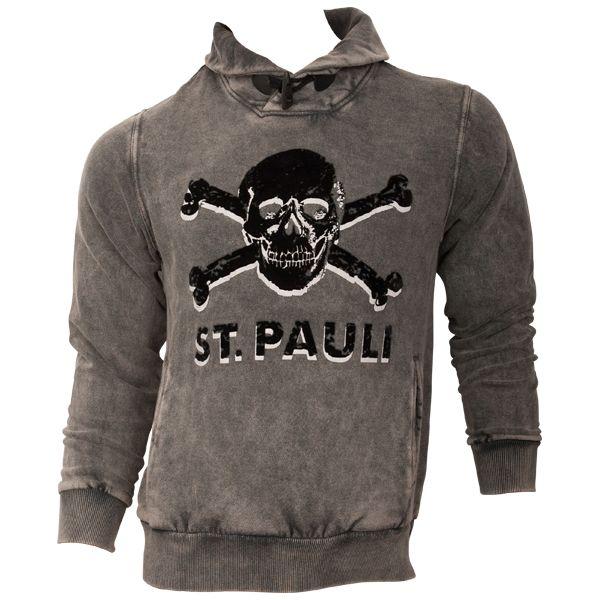 FC St. Pauli - Pullover Coldwash Black - grau