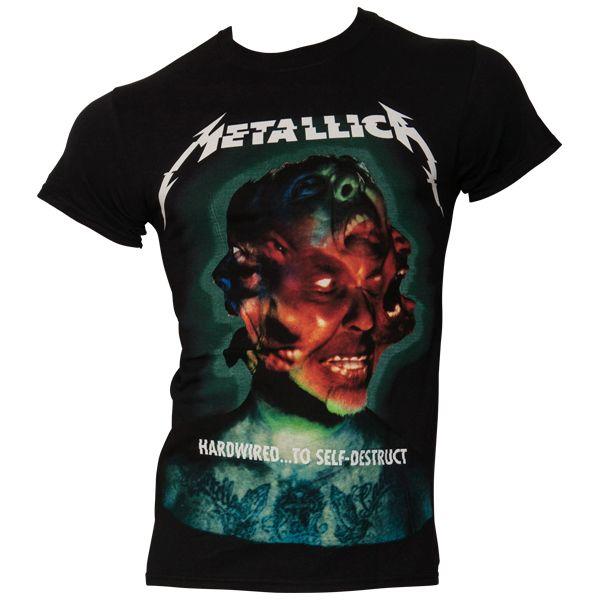 Metallica - T- Shirt Hard Wired Album Cover - schwarz