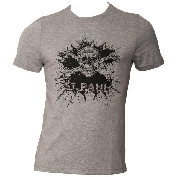 FC St. Pauli T-Shirt Splash TK Grau Schwarz