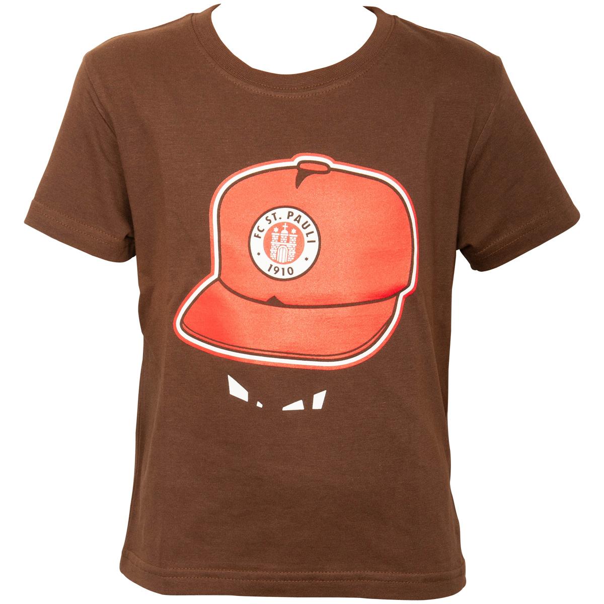 FC St. Pauli - Kinder T-Shirt Cap - braun