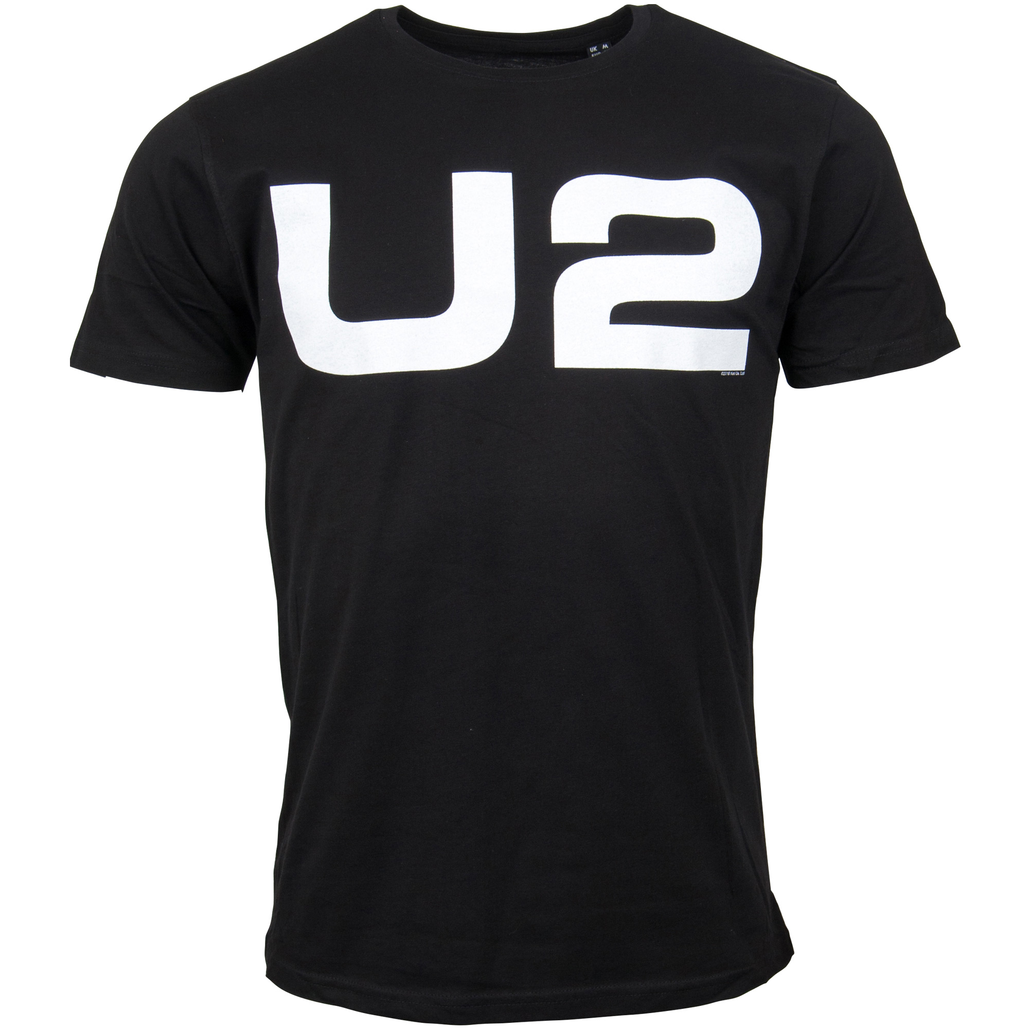 U2 - T-Shirt White Logo - schwarz