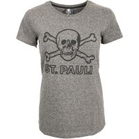 FC St. Pauli - Damen T-Shirt Terry Outline - grau