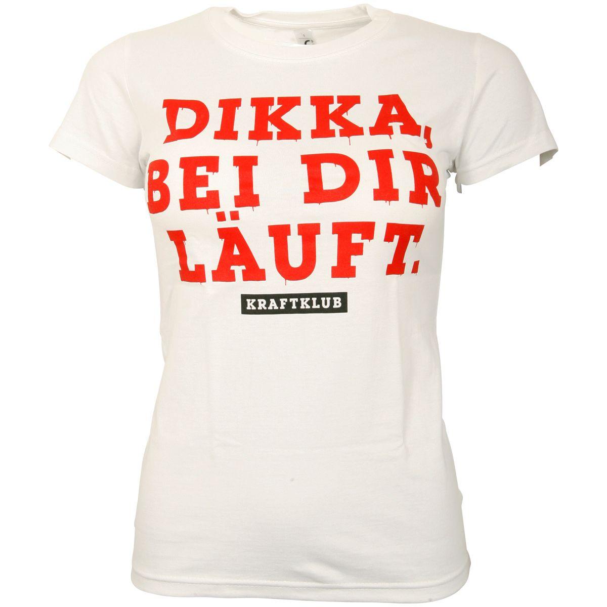 Kraftklub - Damen T-Shirt Dikka - weiß