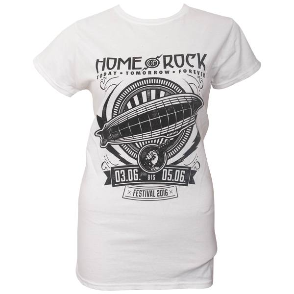 Rock am Ring 2016 - Frauen T-Shirt Ribbon Flash mit Lineup - weiß