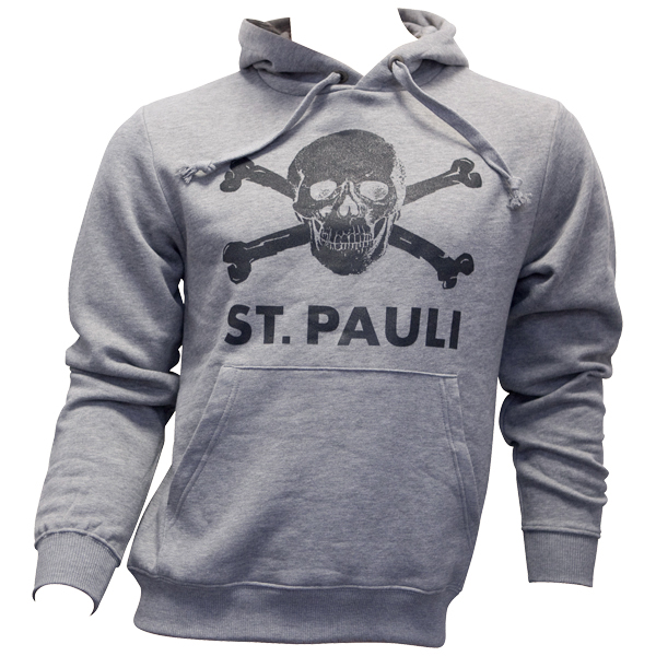 FC St. Pauli - Kapuzenpullover Totenkopf - grau