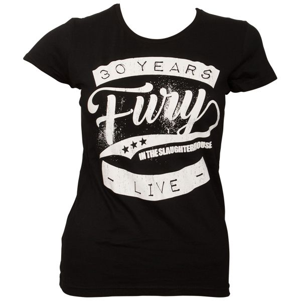 Fury In The Slaughterhouse - Frauen T-Shirt 30 Years Live - schwarz