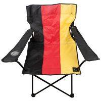 Deutschland - Faltstuhl mit Getränkehalter - schwarz/rot/gold